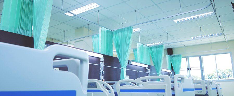 patient beds in energy efficient hospital